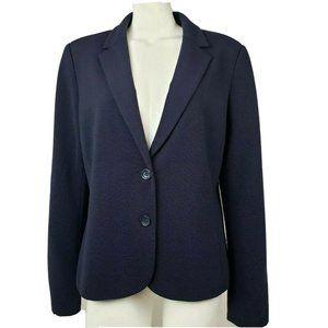 ANN TAYLOR LOFT Blue Blazer Jacket Size 16